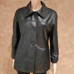 Utex lamp leather black woman jacket Medium